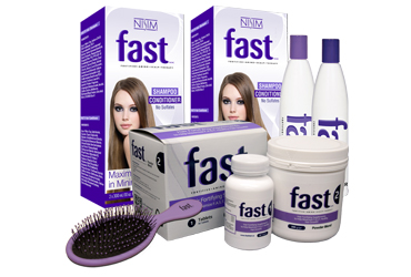 Wet/Dry Brush Fast | Shampoo and Conditioner | Sulfate Free FAST Hair | Fortifying Supplements 2 Pack (Tablets and Powder)