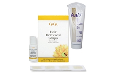 GiGi Facial Wax Strips + Kalo Lotion