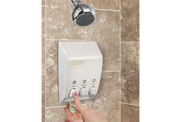 3 pump Shampoo conditioner and body wash dispenser